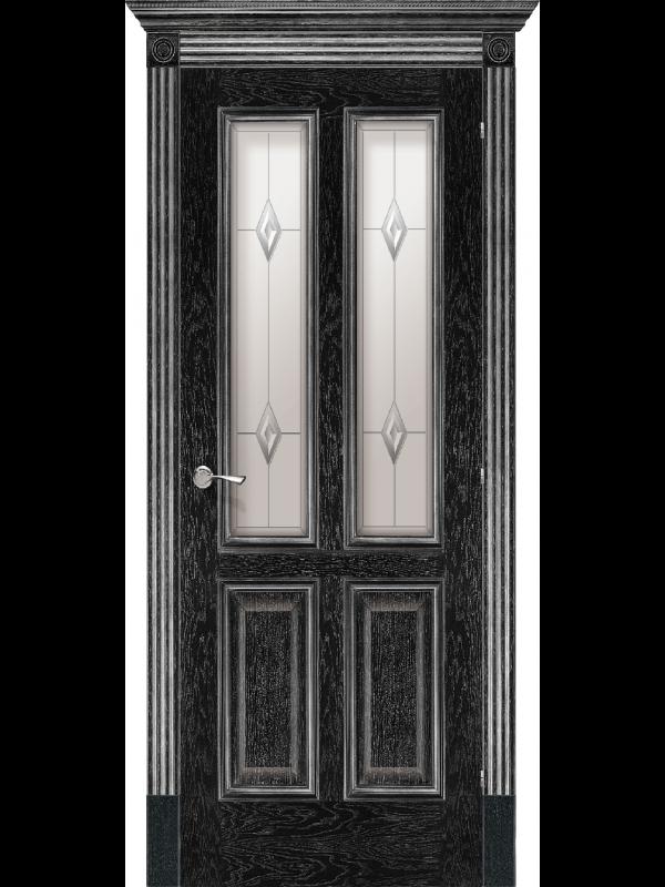 Плімут зі склом - Міжкімнатні двері, Шпоновані двері