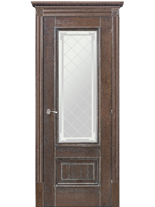 Ромула 1 зі склом - Міжкімнатні двері, Шпоновані двері