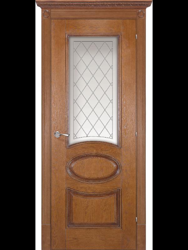 Валенсія зі склом - Міжкімнатні двері, Шпоновані двері